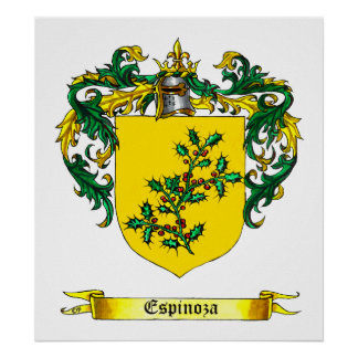 Espinosa Shield of Arms Poster