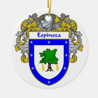 Espinoza Coat of Arms/Family Crest Ceramic Ornament