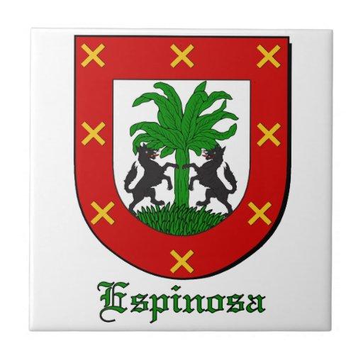 Espinoza Family Shield Decorative Tile