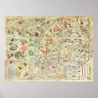 """""""Espío"""" el mapa de la diversión de los niños Super Póster"""