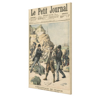 Espionage in France Arrest of an English colonel Canvas Print