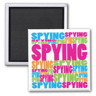 Espionaje colorido imán cuadrado
