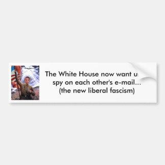 Espionaje liberal del correo electrónico del fasci pegatina para auto