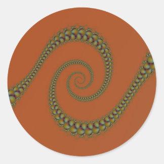Espiral a torcer en espiral pegatina