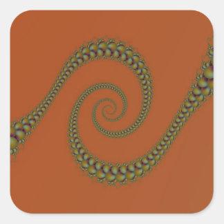 Espiral a torcer en espiral pegatina cuadrado