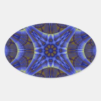 Espiral a torcer en espiral pegatina oval