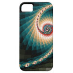 Espiral abstracto del pixel iPhone 5 fundas