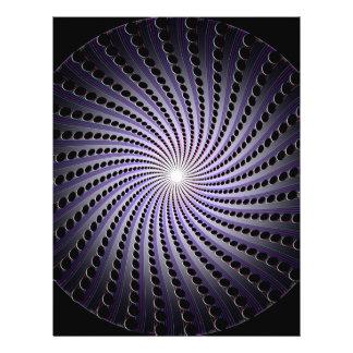 """Espiral abstracto oscuro: folleto 8.5"""" x 11"""""""