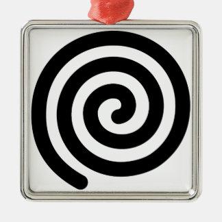 Espiral Adorno Navideño Cuadrado De Metal