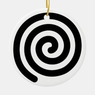 Espiral Adorno Navideño Redondo De Cerámica