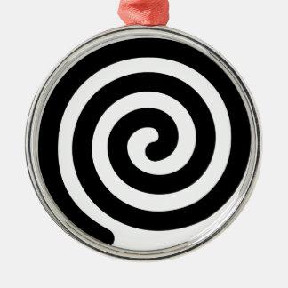 Espiral Adorno Navideño Redondo De Metal