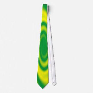 Espiral amarillo en verde corbata