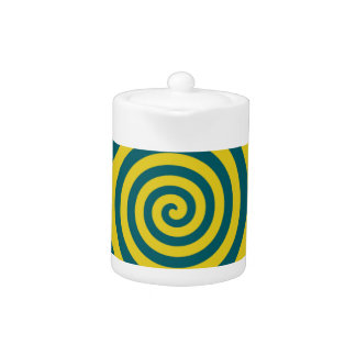 Espiral amarillo verde