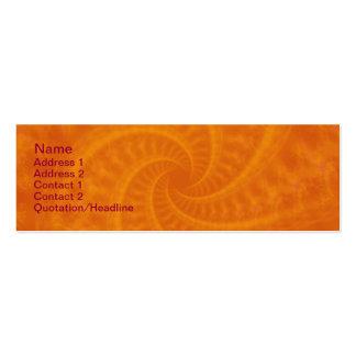 Espiral anaranjado de la estela de vapor plantillas de tarjeta de negocio