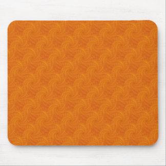 Espiral anaranjado Mousepad de la estela de vapor Alfombrilla De Ratón