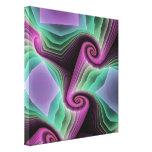 Espiral artístico del fractal lienzo envuelto para galerías