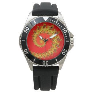 Espiral áureo reloj de mano