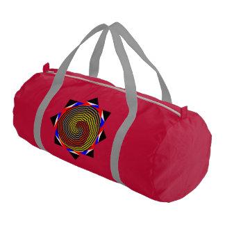Espiral azul amarillo rojo bolsa de deporte