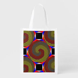 Espiral azul amarillo rojo bolsas para la compra