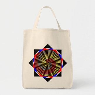 Espiral azul amarillo rojo de Kenneth Yoncich Bolsa Tela Para La Compra