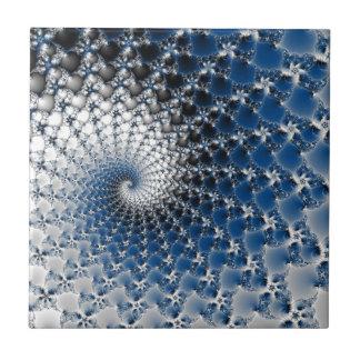 Espiral azul azulejo cuadrado pequeño