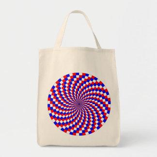 Espiral azul blanco rojo de Kenneth Yoncich Bolsa Tela Para La Compra