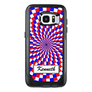 Espiral azul blanco rojo de Kenneth Yoncich Funda OtterBox Para Samsung Galaxy S7 Edge
