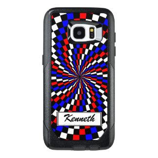 Espiral azul blanco rojo del inspector de Kenneth Funda OtterBox Para Samsung Galaxy S7 Edge