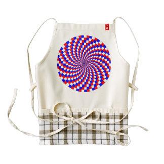 Espiral azul blanco rojo delantal zazzle HEART