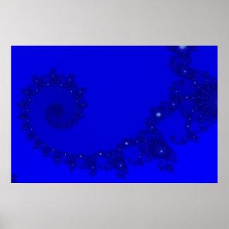 Espiral azul de Julia Póster