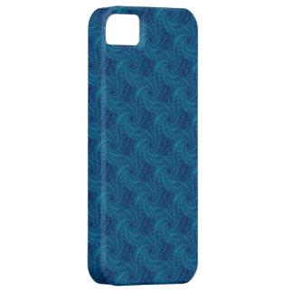 Espiral azul de la estela de vapor iPhone 5 fundas