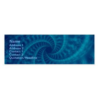 Espiral azul de la estela de vapor plantillas de tarjetas de visita