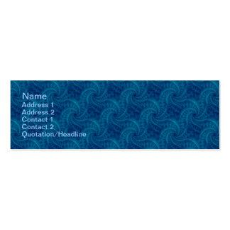 Espiral azul de la estela de vapor tarjeta personal