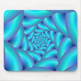 Espiral azul Mousepad de la cuerda Tapete De Ratón