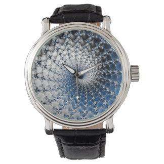 Espiral azul relojes de pulsera
