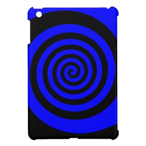 Espiral azul y negro