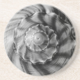 Espiral, blanco y negro posavasos diseño
