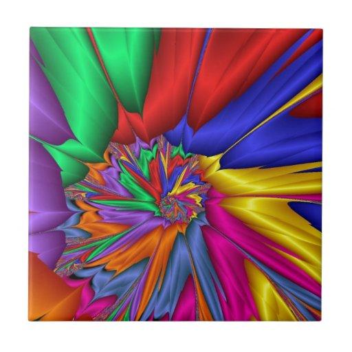 Espiral brillante del color azulejo cuadrado pequeño