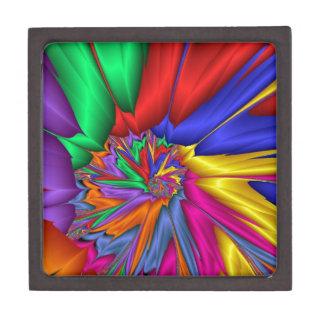 Espiral brillante del color caja de recuerdo de calidad