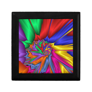 Espiral brillante del color cajas de joyas