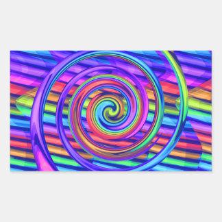 Espiral brillante estupendo del arco iris con dise