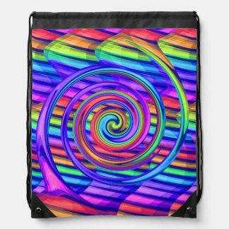 Espiral brillante estupendo del arco iris con dise mochilas
