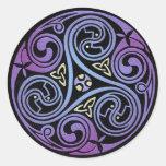 Espiral céltico #1 etiqueta redonda