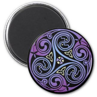 Espiral céltico #1 imán redondo 5 cm