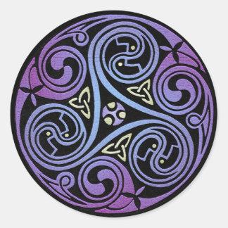 Espiral céltico #1 pegatina redonda