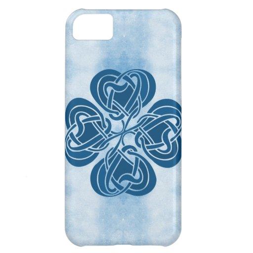 Espiral céltico azul enrrollado funda para iPhone 5C