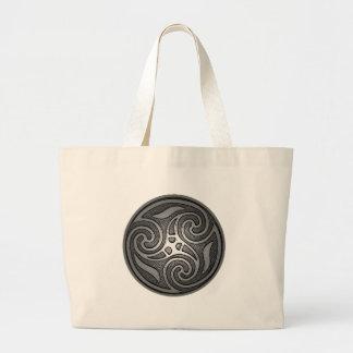 Espiral céltico bolsa tela grande