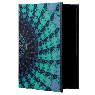 Espiral céltico Hued fresco brillante del fractal