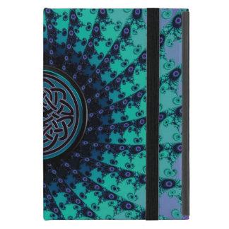 Espiral céltico Hued fresco brillante del fractal iPad Mini Cárcasas