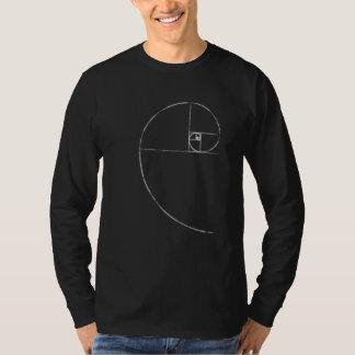 Espiral centrado corazón de Fibonacci Playera